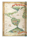 The Americas, Detail from World Atlas, 1565