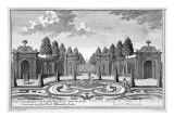 The Gardens of Count Althan, Vienna, engraved by Johann Gottfried Thelott