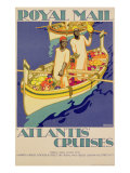 Poster advertising Royal Mail, 'Atlantis' Cruises, printed by the Baynard Press, c.1930