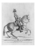 The Chevalier d'Eon as a Dragoon, 1779 Giclee Print