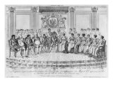 Sketch Depicting Napoleon I and the Sovereigns at Ball Given by City of Paris on 4th December 1809,