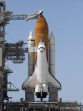 Space Shuttle Endeavour Sits Ready on the Launch Pad at Kennedy Space Center