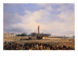 Raising of Obelisk of Luxor in Place de la Concorde on October 25, 1836