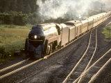 Ex-Norfolk and Western 4-8-4 Steam Locomotive No.611 on a Fan Trip