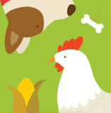 Farm Group: Hen and Dog