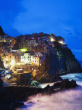 Clifftop Village of Manarola, Cinque Terre, UNESCO World Heritage Site, Liguria, Italy, Europe