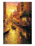 Buy Gondola in Sunset, Venice at AllPosters.com