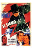 The Mark of Zorro, Spanish Movie Poster, 1940