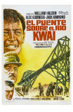 Bridge on the River Kwai, Spanish Movie Poster, 1958