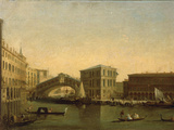 A View of the Rialto Bridge with the Palazzo dei Camerlenghi to the Right
