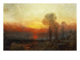 Winter Sunset - a Slide, 1850