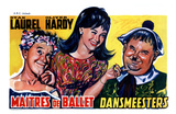 Dancing Masters, Belgian Movie Poster, 1943