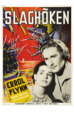 The Sea Hawk, Swedish Movie Poster, 1940