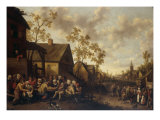 A Village Scene with an Apothecary