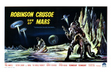 Robinson Crusoe on Mars, Belgian Movie Poster, 1964