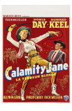 Calamity Jane, Belgian Movie Poster, 1953