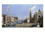 A View of the Grand Canal, Venice, from Santa Maria della Carita to the Bacino di San Marco