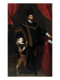 Portrait of Duke Wilhelm V of Bavaria (1548-1626) and his Son Albrecht Giclee Print