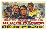 The Guns of Navarone, Belgian Movie Poster, 1961