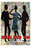 Jules and Jim, German Movie Poster, 1961 Premium Poster