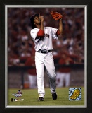 Pedro Martinez after striking out Angel's Figgins, 7th inning of the 2004 ALDS, Game 2 ©Photofile
