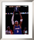 Allen Iverson - 2005 All Star Game - Holds Up The MVP Trophy