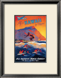 Fly to Hawaii Framed Art Print
