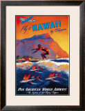 Fly to Hawaii Framed Giclee Print