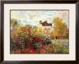 The Artist's Garden in Argenteuil Framed Art Print