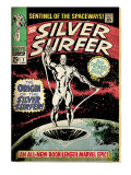 Marvel Comics Retro: Silver Surfer Comic Book Cover #1, Origin (aged)