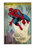 Marvel Comics Retro: The Amazing Spider-Man Comic Panel (aged)