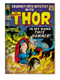 Marvel Comics Retro: The Mighty Thor Comic Book Cover #120, Journey into Mystery (aged)