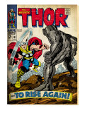 Marvel Comics Retro: The Mighty Thor Comic Book Cover #151 --To Rise Again! (aged)