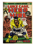 Marvel Comics Retro: Luke Cage, Hero for Hire Comic Book Cover No.15, in Chains (aged)