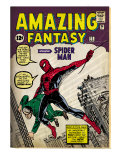 Marvel Comics Retro: Amazing Fantasy Comic Book Cover #15, Introducing Spider Man (aged)