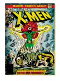 Marvel Comics Retro: The X-Men Comic Book Cover #101, Phoenix, Storm, Nightcrawler, Cyclops (aged)