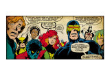 Marvel Comics Retro: X-Men Comic Panel (aged) Art Print
