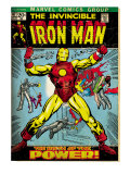 Marvel Comics Retro: The Invincible Iron Man Comic Book Cover #47, Breaking Through Chains (aged)
