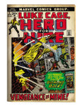 Marvel Comics Retro: Luke Cage, Hero for Hire Comic Book Cover No.2, Smashing Wall (aged)