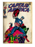 Marvel Comics Retro: Captain America Comic Book Cover #111, with Hydra and Bucky (aged)