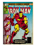 Marvel Comics Retro: The Invincible Iron Man Comic Book Cover #126, Suiting Up for Battle (aged)