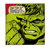 Marvel Comics Retro: The Incredible Hulk Comic Panel (aged),