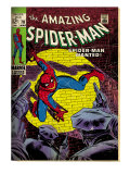 Marvel Comics Retro: The Amazing Spider-Man Comic Book Cover #70, Wanted! (aged)