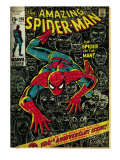 Marvel Comics Retro: The Amazing Spider-Man Comic Book Cover #100, 100th Anniversary Issue (aged)