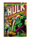 Marvel Comics Retro: The Incredible Hulk Comic Book Cover #181, with Wolverine (aged)