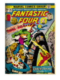 Marvel Comics Retro: Fantastic Four Family Comic Book Cover #167, Thing and the Hulk (aged)