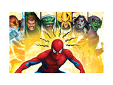 Spider-Man, Shocker, Sandman, Lizard, Electro, Morbius and Green Goblin