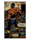 Marvel Comics Retro: Luke Cage, Hero for Hire Comic Panel (aged)