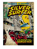 Marvel Comics Retro: Silver Surfer Comic Book Cover #13 (aged)