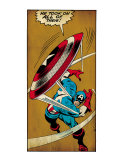 Marvel Comics Retro: Captain America Comic Panel, Throwing Shield (aged)
